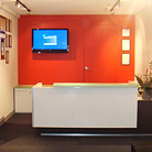 Office Reception Desk and Waiting area